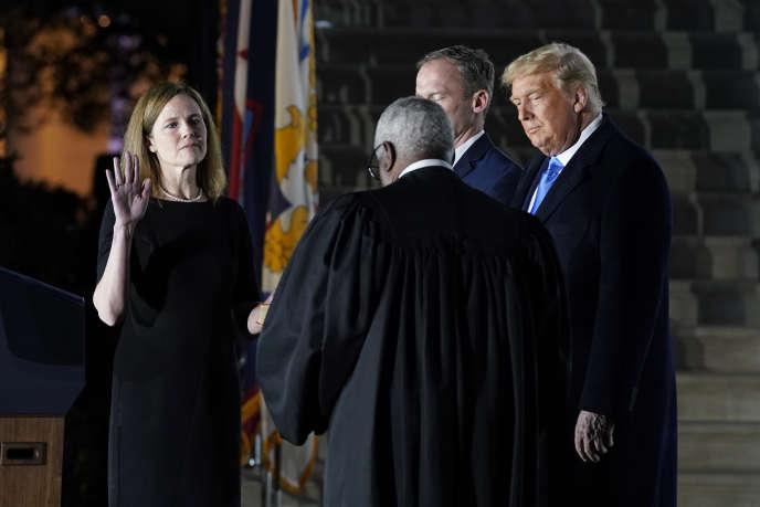 Donald Trump assisteà la prestation de serment de la juge Amy Coney Barrett, à la Maison Blanche, lundi 26 octobre.