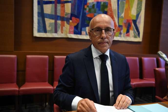 Le député LR des Alpes-Maritimes, Eric Ciotti, à Paris, le 6 juillet.