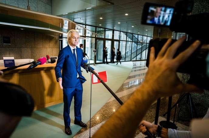 Geert Wilders, le leader de la droite populiste néerlandaise, le 27 octobre à La Haye.