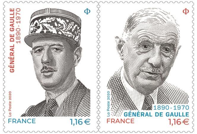 Diptyque« Charles de Gaulle», en vente générale le 9 novembre. Dessin et gravure de Sarah Lazarevic. Impression en taille-douce
