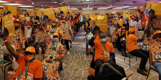 Le 18 octobre 2020. Lancement de la campagne présidentielle d'Alassane Ouattara dans un hôtel parisien.