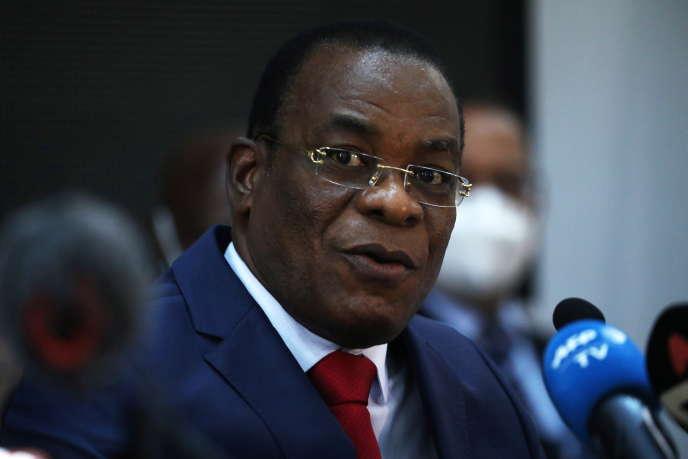 Pascal Affi N'Guessan, président du Front populaire ivoirien (FPI), à Abidjan, le 14 octobre 2020.