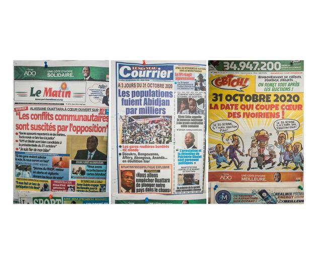 Les journaux du 28 octobre
