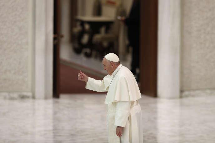 Le pape François, au Vatican, le 28 octobre.