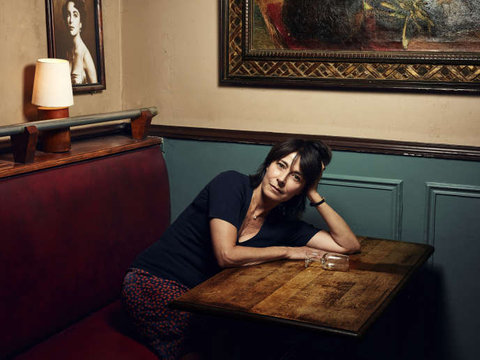 Marilyne Canto, au Café de l'Industrie, à Paris le 4 septembre.
