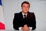 Le président Emmanuel Macron lors de son allocution télévisée, le 28 octobre 2020.