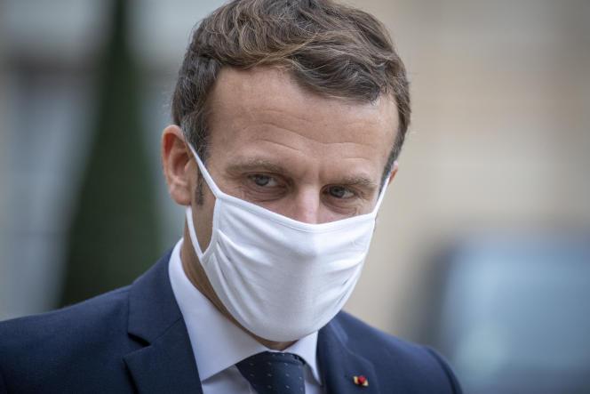 Emmanuel Macron à l'Elysée le 28 octobre.