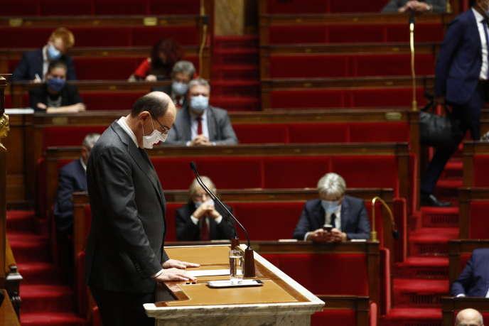 Le premier ministre, Jean Castex, à l'Assemblée nationale, le 29octobre.