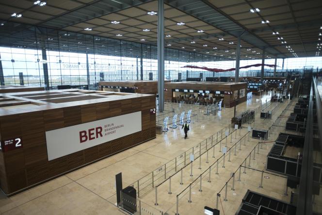 Le terminal 1 de l'aéroportWilly-Brandt de Berlin-Brandebourg, le 27 octobre.