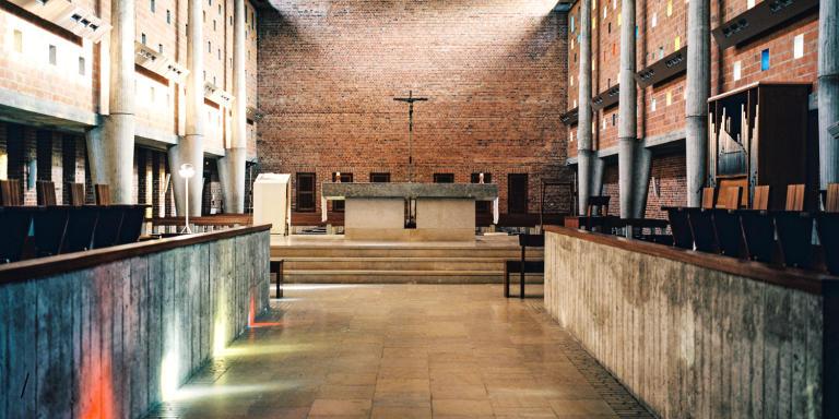 L'église. Le couvent des Dominicains de Lille ou couvent Saint-Thomas-d'Aquin. Le 22 octobre 2020.