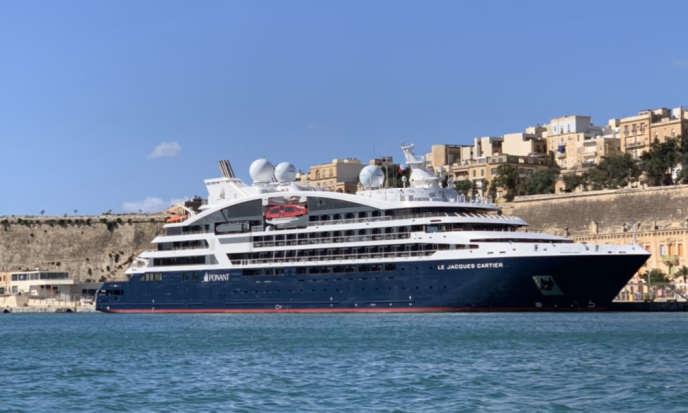 A La Valette (Malte), le jour de l'appareillage du « Jacques-Cartier».