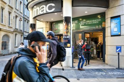 Un magasin« Fnac» encore ouvert ce vendredi 30 octobre à Bordeaux.