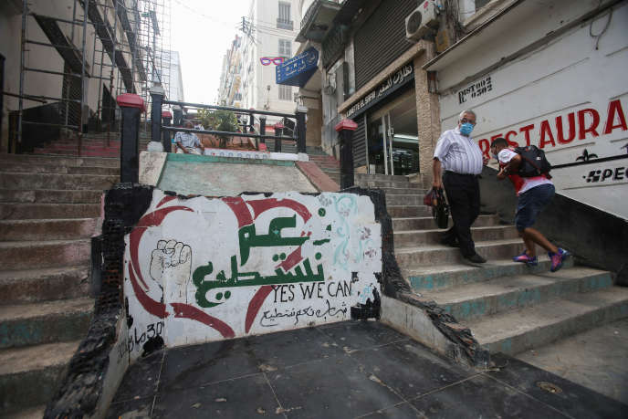 Un graffiti de soutien au Hirak,à Alger, le 16 septembre.