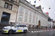 Devant l'ambassade de France à Copenhague, le 30 octobre.