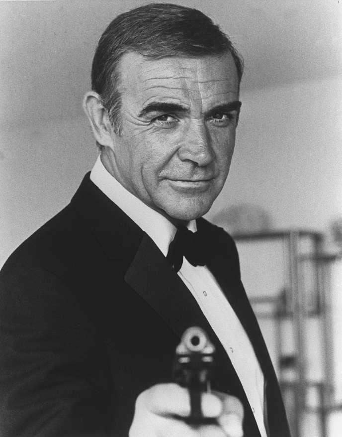 Sean Connery incarnant James Bond lors du tournage de «Jamais plus jamais», en 1982.