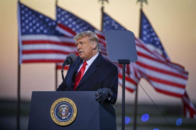 Donald Trump en meeting à Rochester (Minnesota), vendredi 30 octobre.