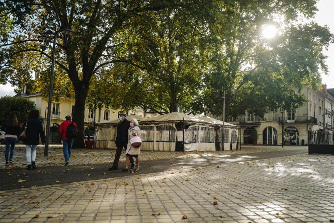 Les rues de Blois lors du premier jour de reconfinement le 30 octobre.
