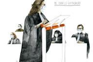 MaîtreIsabelle Guttadauro au tribunal de Paris le 30 octobre.