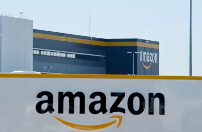 Entrepôt Amazon à Bretigny-sur-Orge, en mai 2020.