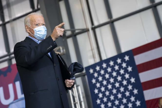 Le candidate démocrate, Joe Biden, le 2 novembre à Cleveland (Ohio).