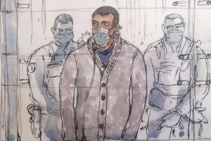 Sid Ahmed Ghlam, lors de son procès à Paris, le 5 octobre 2020.