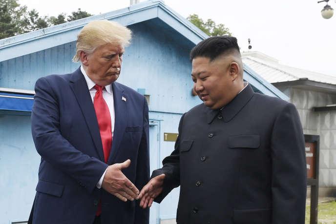 Donald Trump et le dirigeant nord-coréen Kim Jong-un, 30 juin 2019.