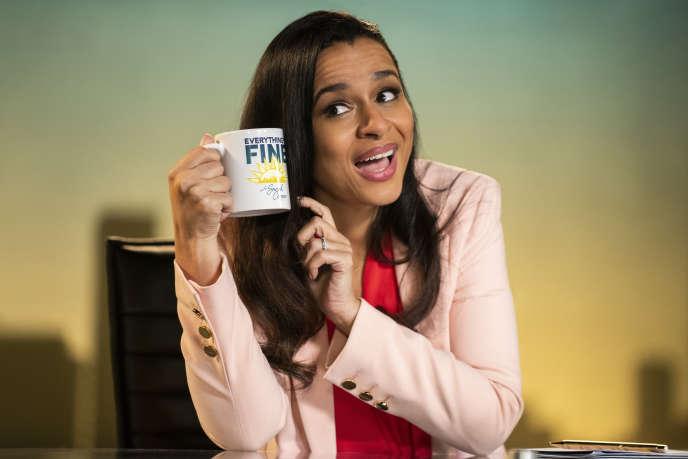 L'humoriste Sarah Cooper dans son émission sur Netflix,«Sarah Cooper : Everything's Fine».