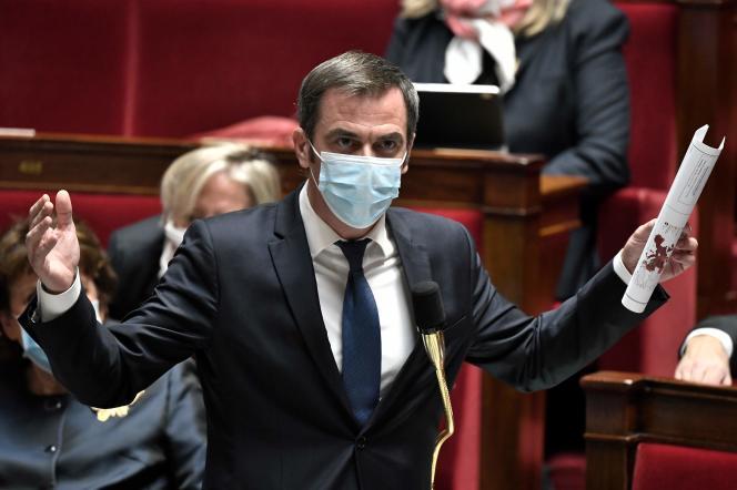 Le ministre de la santé, Olivier Véran, à l'Assemblée nationale le 3 novembre.