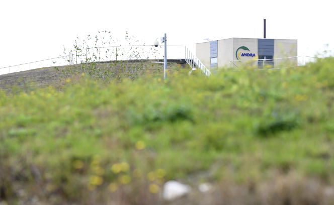 Le site d'enfouissement de déchets radioactifs de Cigéo, à Bure (Meuse), le 7 octobre.