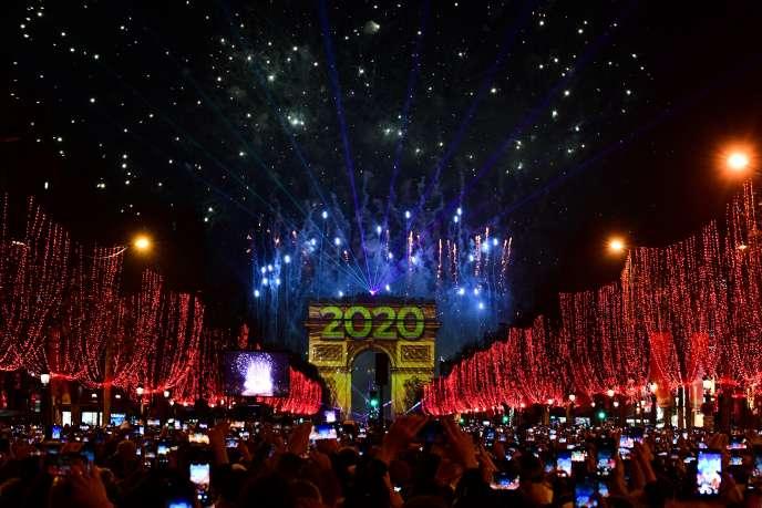 Les Champs-Elysées, le 1er janvier 2020.