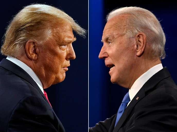Donald Trump et Joe Biden, lors du dernier débat pour l'élection présidentielle, le 22 octobre 2020.