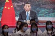 Leprésident chinois Xi Jinping lors de la cérémonie d'ouverture du salon China International Import Expo (CIIE) à Shanghaï, le 4 novembre.