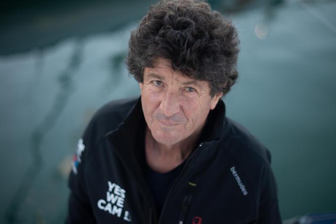 Jean Le Cam, le 22 octobre 2020 aux Sables-d'Olonne,avant le départ du Vendée Globe.