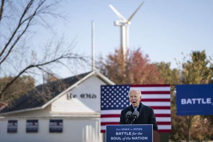 Joe Biden en campagne, à Des Moines, en Iowa, le 30 octobre.