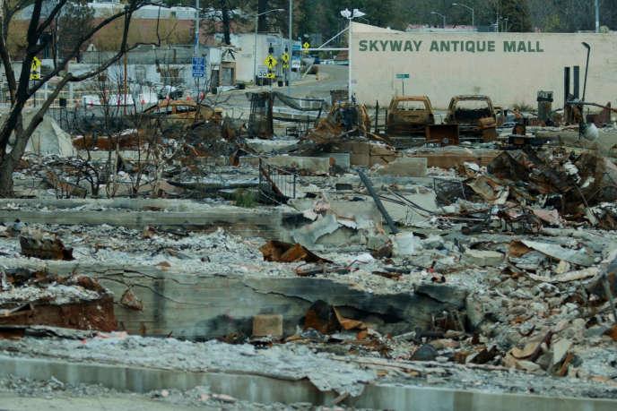 Paradise (Californie) a été ravagée par les flammes, en novembre 2018.