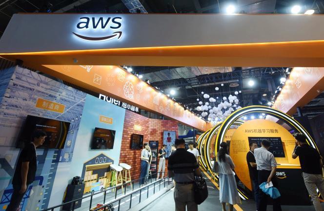 Pavillon AWS d'Amazon, à Shanghai (Chine), en août 2019.