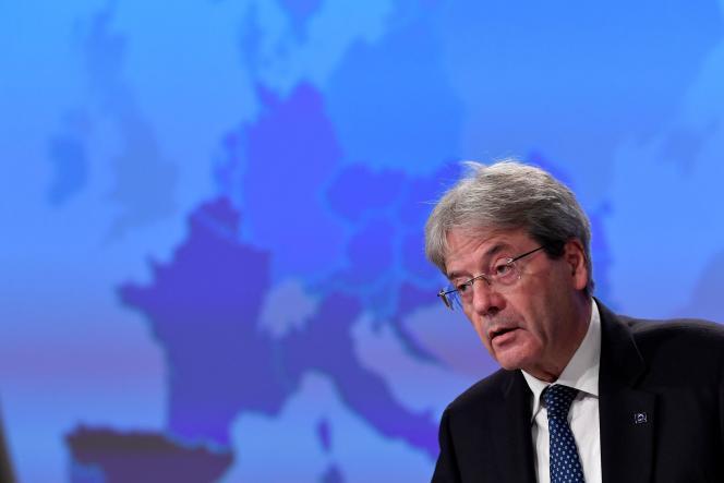 Le commissaire européen à l'économie, Paolo Gentiloni, à Bruxelles, le 5 novembre 2020.