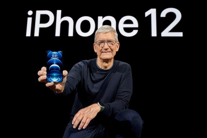 Le patron d'Apple, Tim Cook, à Cupertino (Californie), le 13 octobre 2020.