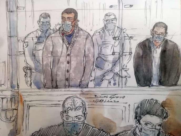 Sid Ahmed Ghlam lors de son procès au tribunal de Paris, le 5 novembre.
