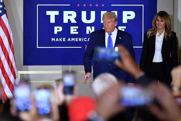 Donald et Melania Trump à la Maison Blanche à Washington, DC, le 4 novembre.