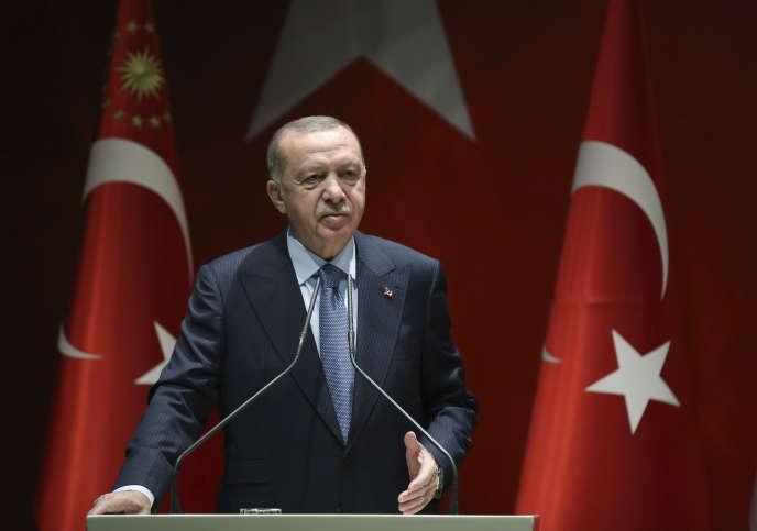 Le président turc Recep Tayyip Erdogan, à Ankara, le 5 novembre.