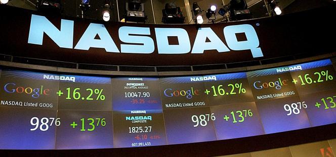 A New York, lors de l'entrée en Bourse de Google, en 2004.