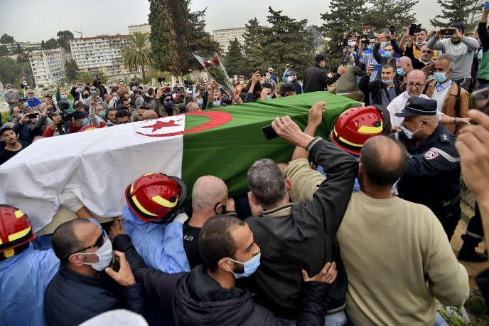 Funérailles de Lakhdar Bouregaa le 5 novembre 2020 à Alger.