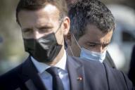 Emmanuel Macron, président de la République, et Gérald Darmanin, ministre de l'intérieur, le 5 novembre.