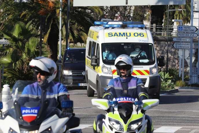 Le terroriste auteur de l'attentat au couteau contre la basilique Notre-Dame-de-l'Assomption de Nice a été transféré vers un hôpital parisien.