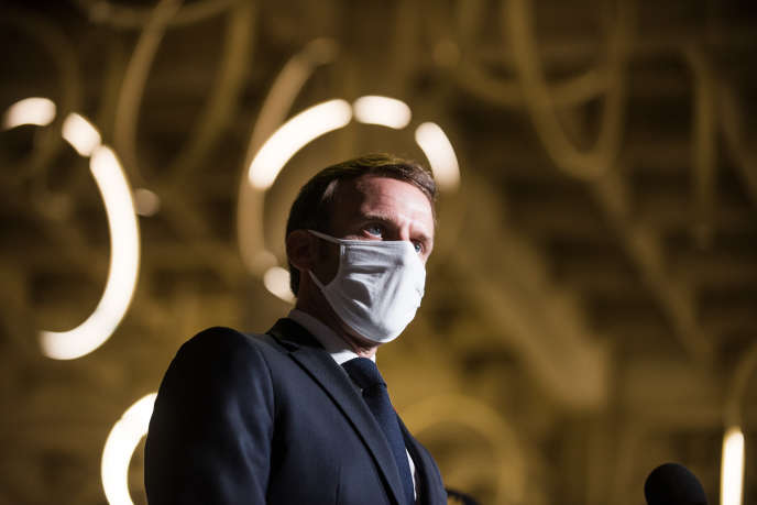 Emmanuel Macron à Bobigny, le 20 octobre.