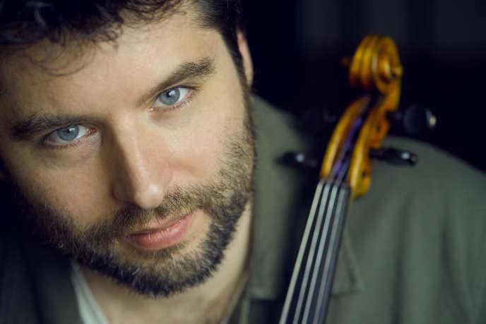 Le violoniste Mathias Lévy, le 19 mars 2019, à la Philharmonie de Paris.