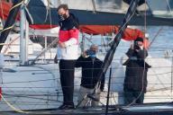 Alex Thomson avant le départ du Vendée Globe, le 8 novembre 2020.