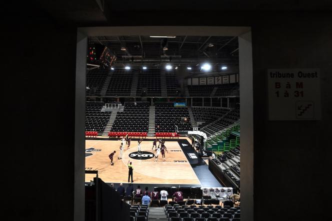 Ce week-end, l'Asvel et Orléans ont disputé une rencontre de championnat de France de basket à huis clos.