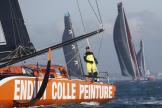 Kevin Escoffier, lors du départ du Vendée Globe, le 8novembre2020.
